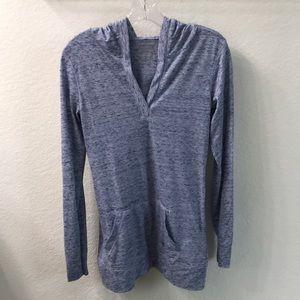New Balance, small, hooded active wear shirt.